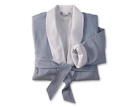 Navy Seersucker Robe | Kimpton Hotel Store