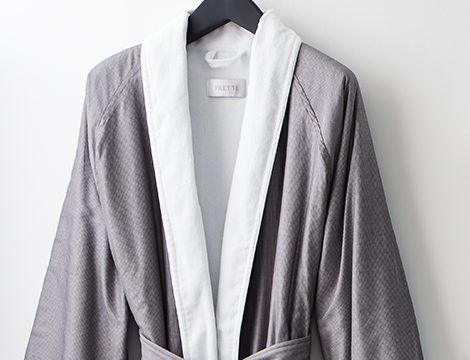 Pinstripe Shawl Collar Robe