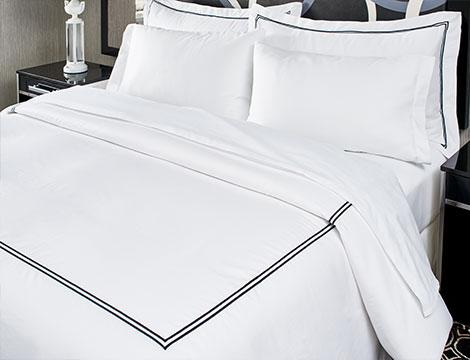 Black Embroidered Bedding Set Kimpton Style