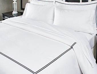 Black Embroidered Duvet Cover
