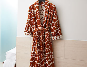 Giraffe Terry Robe
