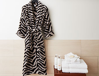 Zebra Terry Robe